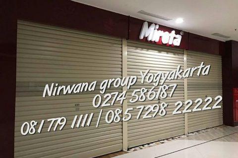 pintu rolling door one sheet proyek nirwana grup yogyakarta solo semarang
