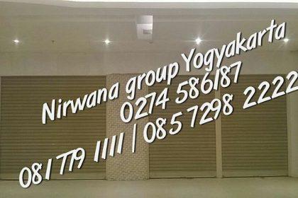 proyek taj indian transmart yogyakarta pintu rolling door one sheet jogja solo semarang