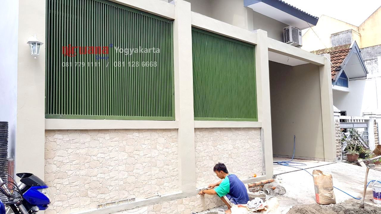 Progress Pemasangan Pagar Besi Minimalis Dan Kusen Jendela