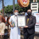 Putra Siregar Pemilik PS Store Raih Rekor MURI Hewan Kurban Terbanyak 1.100 Ekor