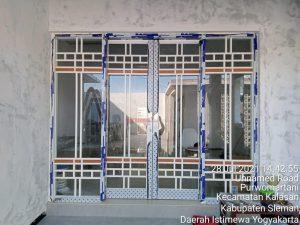 Pintu dan Kaca Sliding Aluminium di Kalasan Jogja