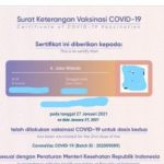 Sertifikat Vaksin Presiden Jokowi Bocor